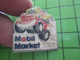 816A Pin's Pins / Rare Et Belle Qualité THEME : CARBURANTS / MOBIL MARKET GRENOBLE SERTILLANNE - Fuels