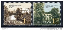 LITHUANIA 2001 Bridges Set Of 2 MNH / **.  Michel 760-61 - Lithuania