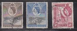 KUT Scott # 103, 108, 110 Used - QEII & Dam & Giraffe - Kenya, Uganda & Tanganyika