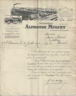SAINT ETIENNE MULCEY IMPRIMERIE USINE AU MONT BELLEVUE ANNEE 1909 - Non Classificati