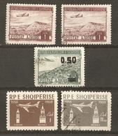 Albanie 1950/60 - Poste Aérienne - Petit Lot De 5 Timbres MNH/O - Albanie