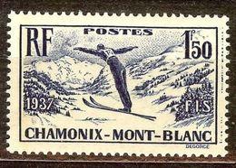 SUPERBE CHAMONIX N°334 NEUF Avec GOMME** Cote 16 Euro PAS D'AMINCI - Unused Stamps