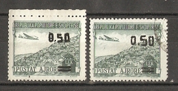 Albanie 1952/53 - Poste Aérienne - 2x 51 MNH Et Oblitéré - Albanie