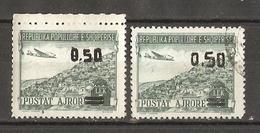 Albanie 1952/53 - Poste Aérienne - 2x 51 MNH Et Oblitéré - Albanië