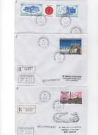 T-A-A-F- LOT DE 3 PLIS  RECOMMANDES  ANNEE 2006//2007 KERGUELEN N° 444--458-459 - Lettres & Documents