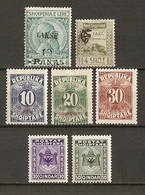 Albanie 1914/30 - Petit Lot De 7 Timbres TAXES - Albanie