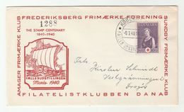 1940 DENMARK STAMP CENTENARY RED CROSS Stamps EVENT COVER Sailing Ship Pic - Covers & Documents