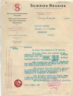 2 Factures 1922 Et 1925+ Traite 1923 / VOSGES / COUSSEY / VILLOUXEL / Hte Marne AILLANVILLE / Scieries Réunies - Francia