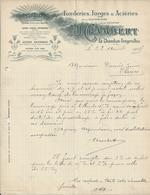 LE CHAMBON FEUGEROLLES CHAMBERT FONDERIES FORGES ACIERIES DE LA SAUVANIERE DE COTATAY ANNEE 1909 - Non Classificati