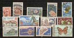 Nouvelle Calédonie 1959/69 - Petit Lot De 13° - Poissons - Coquillages - Oiseaux - Flore - Papillon - Paysages - Vrac (max 999 Timbres)