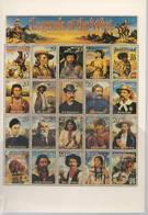 Cartolina Che Riproduce Francobolli USA Leggenda West Gerolimo Carson Buffalo Bill Edizione Cartolinea Torino - Francobolli (rappresentazioni)