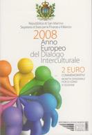 RSM - SAN MARINO 2008 - 2 Euro Anno Europeo Del Dialogo Interculturale - San Marino