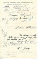 Facture 1921 1/2 Format / VOSGES / CONTREXEVILLE / J. GENIN / Scierie Hydraulique D'OUTRANCOURT - Francia
