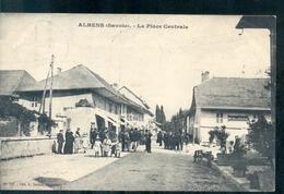 Frankrijk France - Albens - Savoie - La Place Centrale - Cafe - Hotel De France - 1909 - France