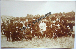 CPA Carte Photo Guerre 14-18 Militaire Cavalier Regiment Dragon Mitrailleuse Cavalry WW1 - Guerre 1914-18