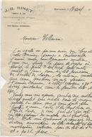 Facture Lettre / VOSGES / CONTREXEVILLE / J. R. BISET / Commerce Du Bois - Francia
