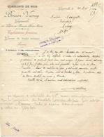 Facture Lettre 1920 / Haute Marne / GUYONVELLE / BRESSON-VARNEY / Scierie / Commerce De Bois - Francia