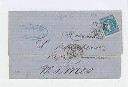 Sur Lettre Céres Type I 20 C. Bleu Report 2. (587) - Postmark Collection (Covers)