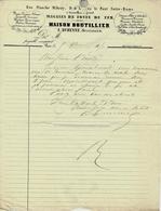 1850 RARE  ENTETE A. DURENNE FONTE FERS à PARIS => Mr André Maître De Forges à Cousances Aux Forges  V. SCANS+HISTORIQUE - Francia