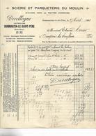 Facture + Traite 1923 / Haute Marne / DOMMARTIN Le St PERE / DECOLOGNE / Scierie / Parqueterie / Moulins - Francia