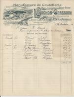 SAINT REMY SUR DUROLLE BECHON GRASSION MANUFACTURE COUTELLERIE ANNEE 1902 - Non Classificati