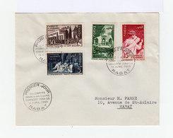 Enveloppe Premier Jour Solidarité Franco Marocaine 1955. Série De 4 Timbres Enseignement . (589) - Maroc (1891-1956)