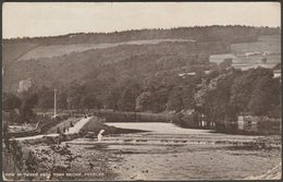 View Of The Tweed From Town Bridge, Peebles, Peeblesshire, 1925 - Valentine's Postcard - Peeblesshire