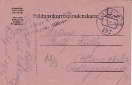 Feldpostkarte K.k. Eis. Sich. Komp. No. 2 - FP 192 - Nach Wien - 1918 (35666) - Briefe U. Dokumente
