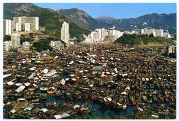 HONG KONG : BIRD'S EYE VIEW OF ABERDEEN - China (Hong Kong)