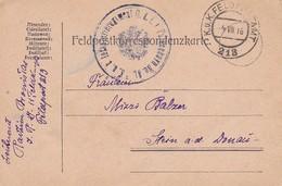 Feldpostkarte K.u.k. Infanterie Regiment No. 81 Von Falkenhayn Nach Stein A.d. Donau - 1916 (35668) - 1850-1918 Imperium