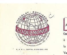 Facture 1962 + Traite 1959 / Vienne / POITIERS / COQUEMONDE / Confiserie Chocolat - Francia
