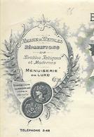 Facture 1916/ Vienne / POITIERS / ROBIN Fils / Menuiserie / Escaliers - Francia