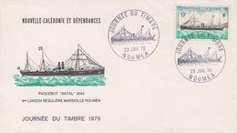 Nouvelle-Caledonie 1970 Journere Du Timbre / Paquebot Natal 1v FDC (39530) - FDC