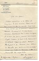 Lettre 1/2 Format 1877 / Vienne / POITIERS / DESAINTVIS / Avoué Cour D'appel - Francia