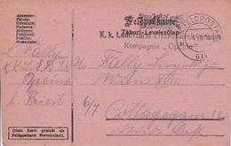 Feldpostkarte K.k. Landsturm Eisenbahnsicherungs Komp. Opcina - 1916  (35671) - Briefe U. Dokumente