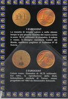 Euro Moneta Itaian 1 Eurocent 2 Euro Cent - Monete (rappresentazioni)