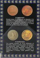 Euro Moneta Itaian 5 Eurocent 10 Euro Cent - Monete (rappresentazioni)