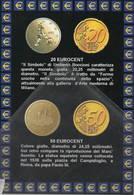 Euro Moneta Itaian 20 Eurocent 50 Euro Cent - Monete (rappresentazioni)
