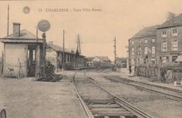 Charleroi , Gare De La Ville Haute ,( Intérieur , Rail Du Train ,passage à Niveau ,barrière ) - Charleroi