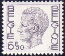 198 Belgium King Roi Baudoin Beaudoin 6f 50 MNH ** Neuf SC (BEL-245b) - Royalties, Royals