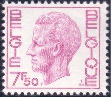 198 Belgium King Roi Baudoin Beaudoin 7f 50 MNH ** Neuf SC (BEL-249b) - Royalties, Royals