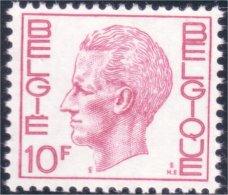198 Belgium King Roi Baudoin Beaudoin 10f MNH ** Neuf SC (BEL-254b) - Royalties, Royals