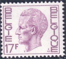 198 Belgium King Roi Baudoin Beaudoin 17f MNH ** Neuf SC (BEL-263b) - Royalties, Royals