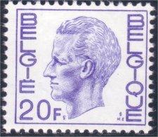 198 Belgium King Roi Baudoin Beaudoin 20f MNH ** Neuf SC (BEL-266b) - Royalties, Royals