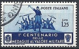 Italia, 1934 Medaglie Al V.M. 1.25 Azzurro  # Michel 501 - Yvert & T. 353 - Scott 338 - Sassone 373 - USATO - Usati