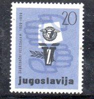 YUG90A - YUGOSLAVIA 1959,  Serie Unificato N. 809  *** - 1945-1992 Repubblica Socialista Federale Di Jugoslavia