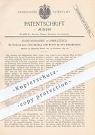 Original Patent - Franz Schraeber , Lommatzsch , Riesa , Dresden , Meissen , 1884 , Sortieren Von Rauhkarden | Karden - Documenti Storici