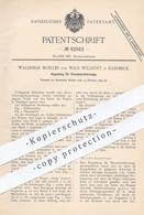Original Patent - Waldemar Moeller , Wilh. Willhöft , Ellerbeck / Hamburg, 1895 , Kupplung Für Eisenbahnen | Eisenbahn ! - Documenti Storici