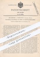 Original Patent - Jan Heerma , Eidelstedt , Hamburg , 1901 , Auffangen Des Stoßes Bei Schiffszusammenstößen | Schiff !! - Documenti Storici