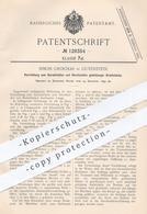 Original Patent - Simon Grochar , Gutenstein / Stuttgart , 1899 , Richten U. Schneiden Gleichlanger Drahtstücke | Draht - Documenti Storici